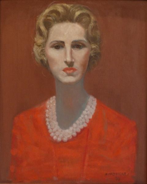 CÂNDIDO PORTINARI. Retrato feminino - o.s.t. - 61 x 50 cm - assinado e datado 58 no cid. (Registrado no Projeto).