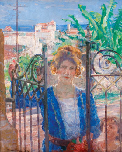 Eliseu Visconti,A Visita de Louise,OST 81 x 65 Rio 1928 ACIE