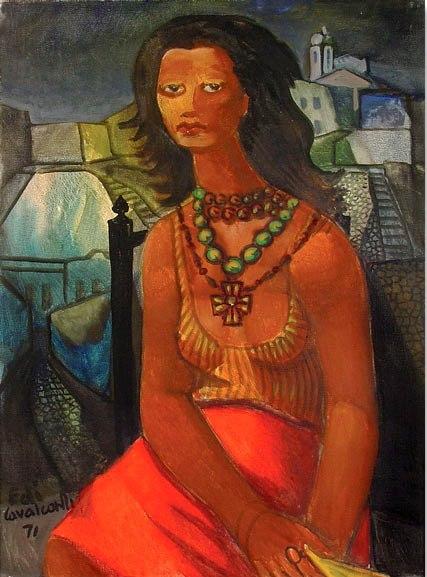 Emiliano DI CAVALCANTI (Brasil,1897 - 1976)Marina Montini, 1971, ost, 80 x 60 cm