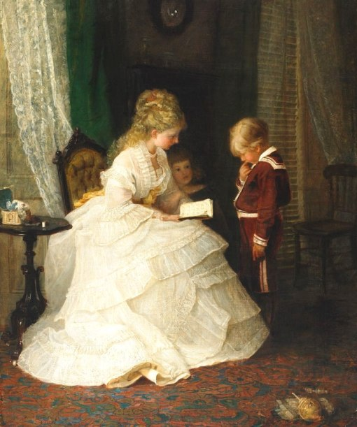 Frederick Morgan (GB, 1856-1927) A Testing Question, 1892, ost, 76 x 62 cm