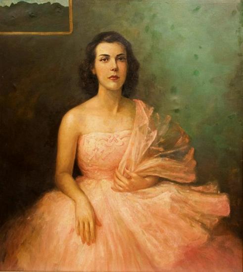 HENRIQUE BERNARDELLI - Figura feminina, O.S.T.105x95 cm.