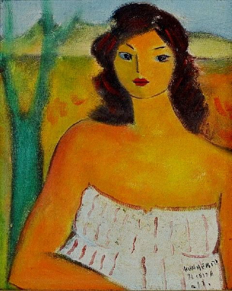 Humberto da costa (1948) Figura de Mulher, o.s.t. - 27 x 22. Ass. dat 87
