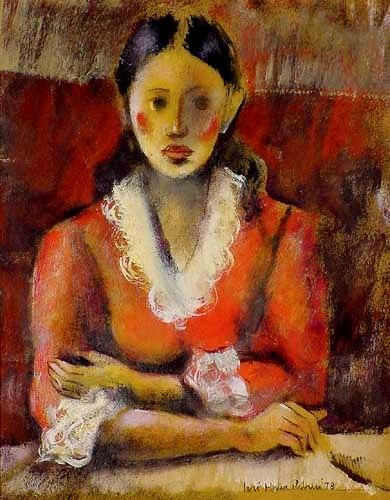 José Maria Ribeiro,Figura Feminina, 1978, ost, 48 x 40 cm
