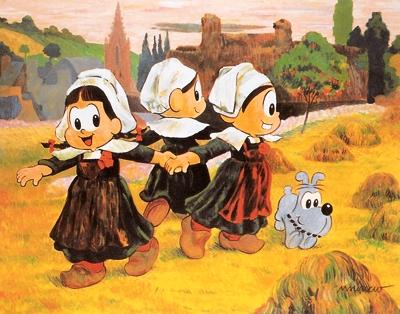 Maurício de Sousa, Meninas do Limoeiro Dançando,1993 - Acrílica sobre tela,95 x 115,5 cm