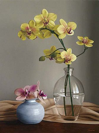 Renato Meziat, (Brasil, 1952)Duas Pequenas Orquídeas 2012 - O.S.T - 40 x 30
