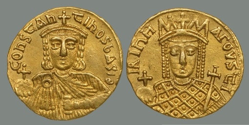 solidus-of-constantine-vi-and-irene-from-dumbarton-oaks-collection