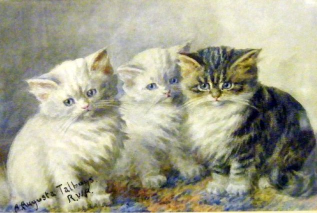 3-kittens-Agnes-Augusta-Talboys-private-collection-768x576