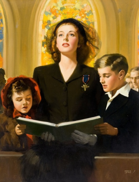 Andrew Loomis, Church, Vintage, Illustrations,