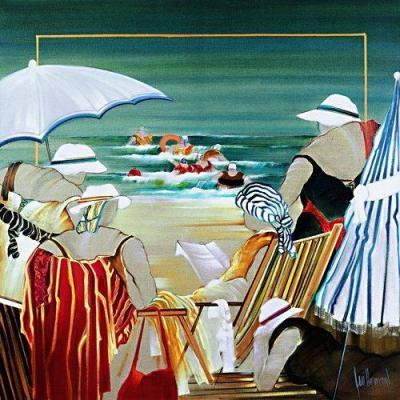 Dominique-Guillemard (França 1949- 2010)Na praia, ost