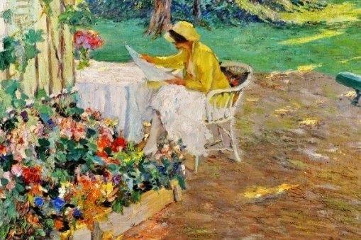 Edward Cucuel (EUA, 1879-1954) Na sombra, ost