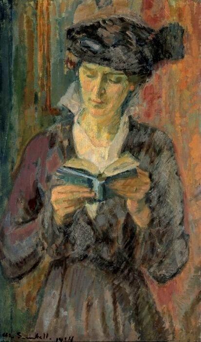 Knut Magnus Enckell (Finlandia, 1870 –1925) Portrait fo Anni Lagerborg, 1914