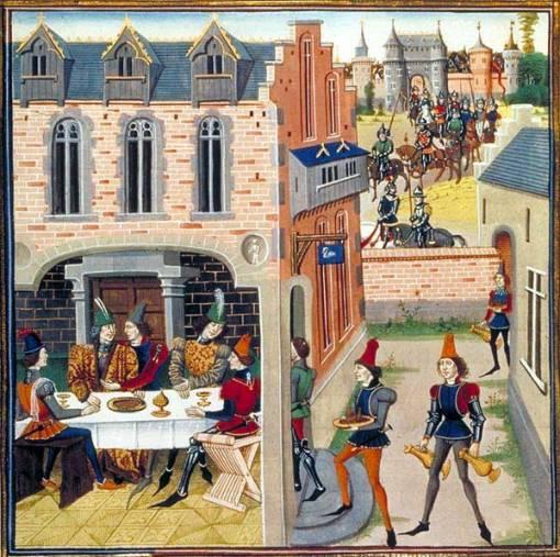 Le service,Histoire de Renaud de Montauban,Paris, BnF, Arsenal, Ms 5072 Res.