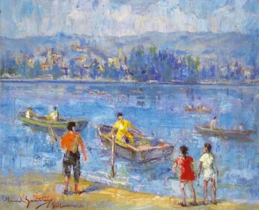 Manoel Santiago,Parque das águas em São Lourenço – MG, 1967,OST,50 x 60 7.900