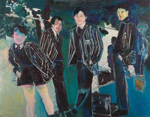 Marlene Dumas (Africa do Sul, 1953)Os alunos, 1987,ost, 160 x 200 cm