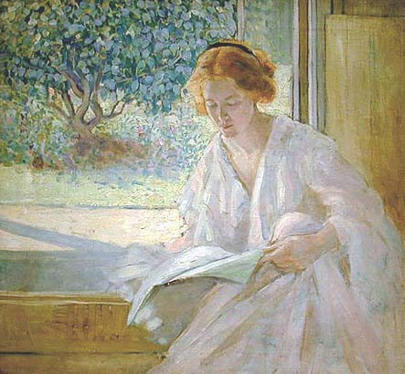 Richard Emil Miller (EUA 1875-1943) Summer Morning in Giverny, 1913-15 OST