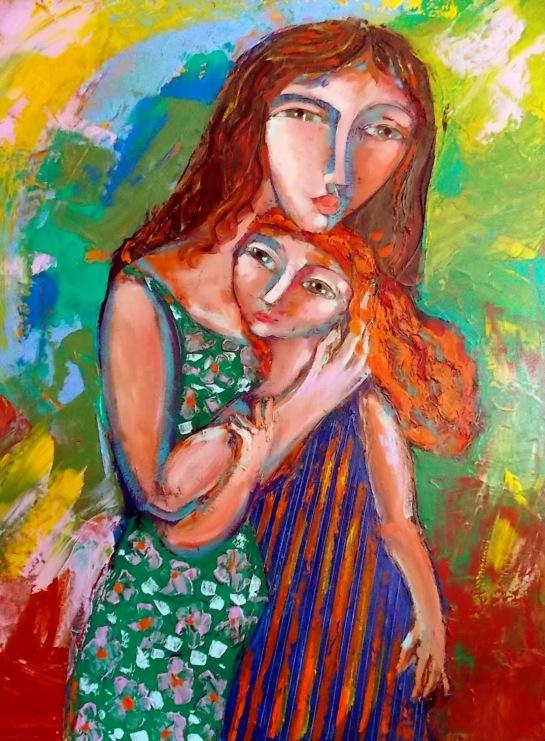 Enrique ARavena, (Chile-Brasil, 1948) Maternidade, ost, 80 x 60 cm