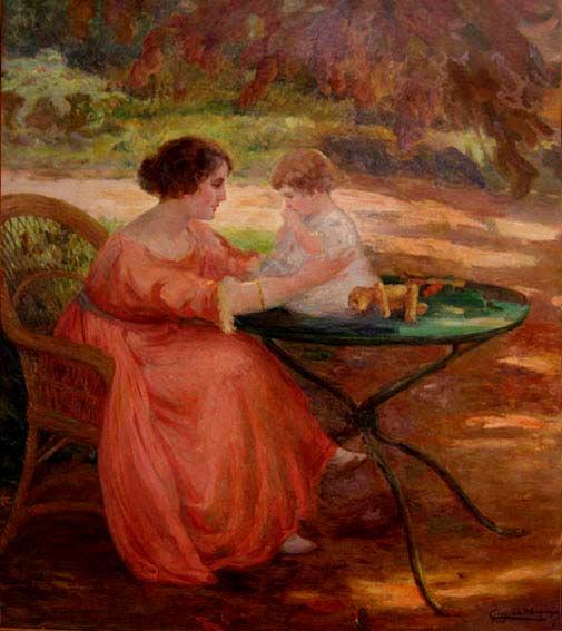 Georgina de Albuquerque, Maternidade, óleo tela, 159 x 139 cm,1930s, Museu D. João VI