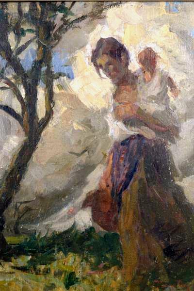 Pedro Bruno (1888-1949) Maternidade, o.s.m. - 37 x 37 cm. Ass.