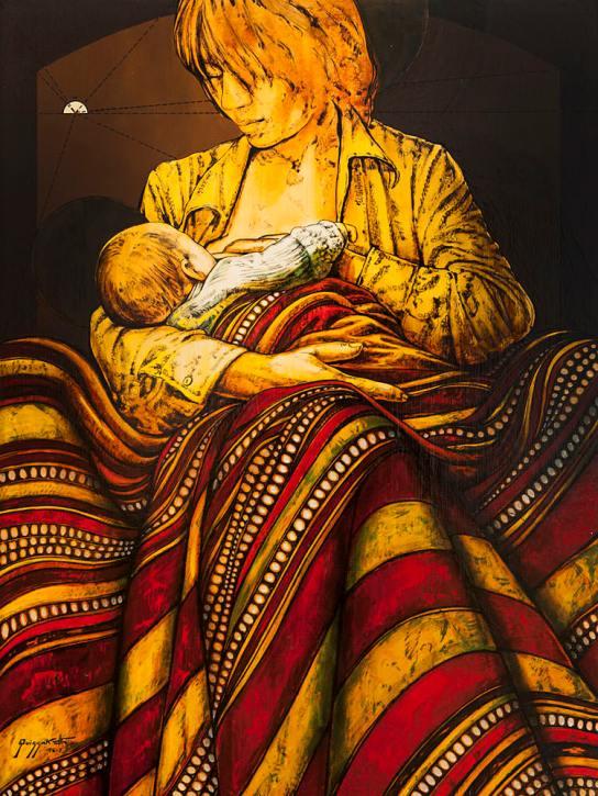 quissak-jr-a-mae, 1975,-oleo-sobre-tela-80 x 60 cm