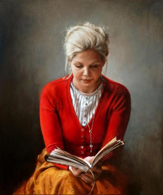 ralf-heynen(Holanda, 1978)Judith, 2012, Mulher lendo, ost livroRalf Heynen, 60 x 50 cm