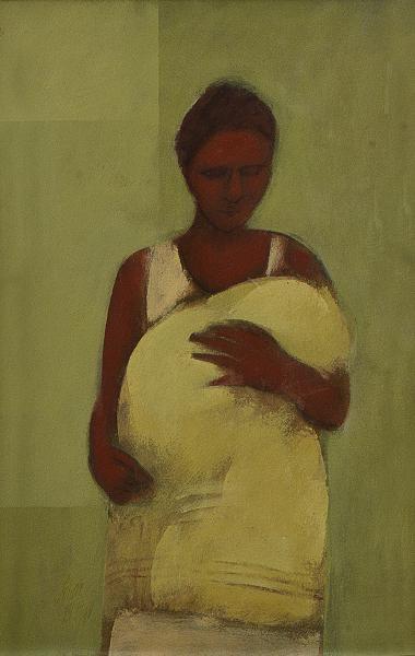 SCLIAR, Carlos (1920 2001) Mãe, vinavil - 56 x 37 cm. Ass. e datado 69 frente e