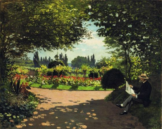 Adolphe Monet in the Garden of Le Coteau at Sainte-Adresse, 1867. Claude Monet (French, 1840-1926). Oil on canvas; 82.6 x 100.6 cm.