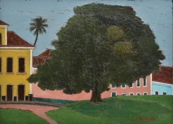 IVAN MARQUETTI (1941 - 2004). Paisagem de Alcântara-MA, óleo s tela, 80 x 130. Assinado e datado (1984) n