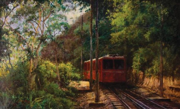 Mauro Ferreira,Bondinho do Corcovado,46 x 75 cm – OST,Ass. CIE e Dat. 2006
