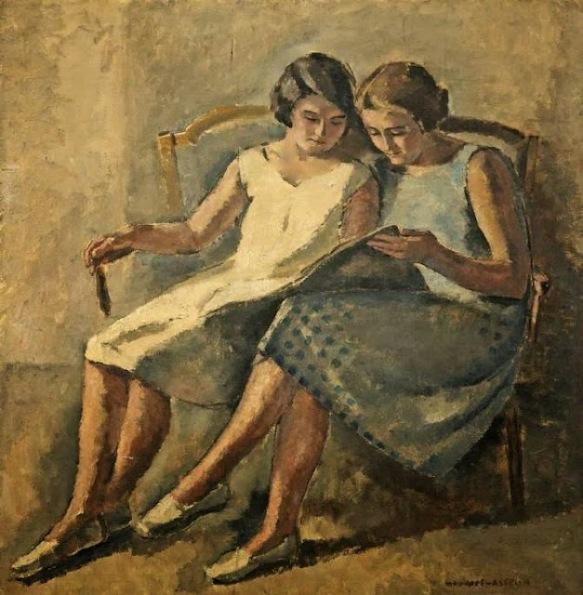 ASSELIN, Maurice(França, 1882-1947)2 lendo, ost