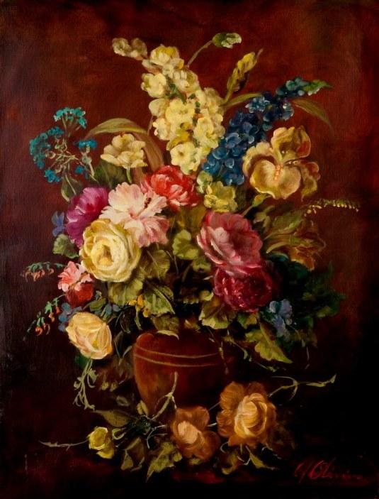 CELSO DE OLIVEIRA, Vaso de Flores – 65 x 50 cm,OST – Ass. CID e Dat. 2007