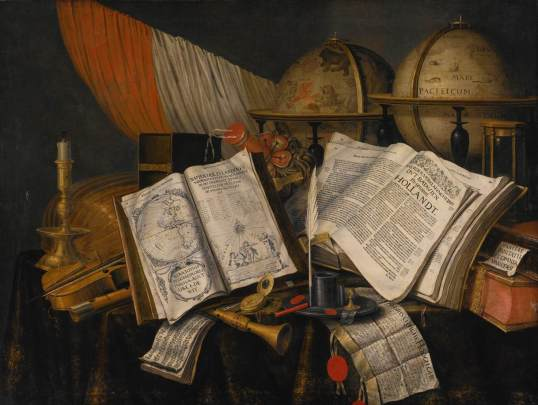 COLLIER, Edwart, Vanitas(Holand, 1640-1710) Still-Life,1662,Oil on canvas, 98 x 130 cm,Private collection