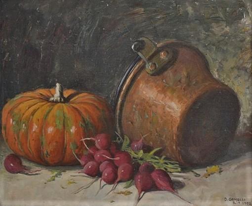 Domingos Gemelli(Brasil,1903 - 1985),Natureza Morta,ost,Ass., datado1972 e situado Rio Cid,46 x 55 cm