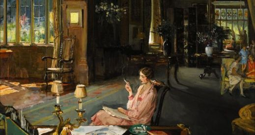 Sir John Lavery's 'Mary Borden and her family at Bisham Abbey'