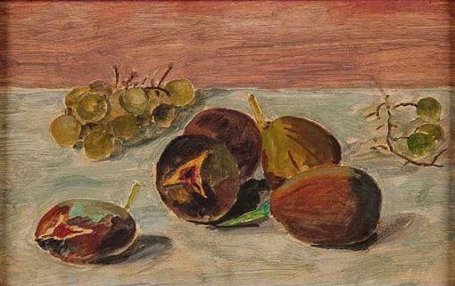 Volpi, Alfredo(1896-1988),Natureza Morta,Têmpera s papel colado em placa,20 x 31 cm