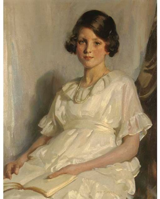 William Charles Penn (GB1877–1968) Retrato de menina, 1921, ost