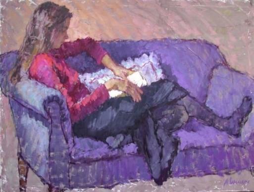 Alice [Williams] French (EUA, contemp) Uma boa leitura,90 x 120 cm