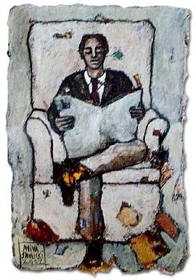 Aviva Sawicki (Chile 1956) hombre-leyendo-diario2