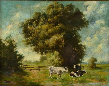 C. CHAMBERLLAND - Ituja , O.S.T., 1912, 58 x 75 cm.