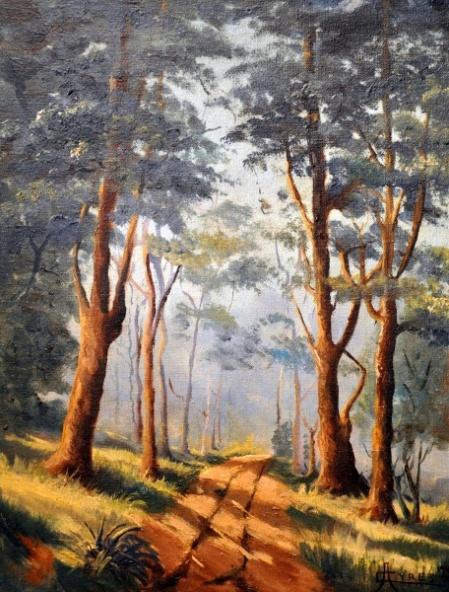 CAMPOS AIRES, o.s.t. Natureza, Campinas -SP 1940. 35 x 27 cm. a.c.i.d