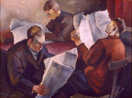 Cawén, Alvar (1886-1935) Lehtiä luetaan, 1922.jpgAlvar Cawén(Finlandia, 1886-1935)