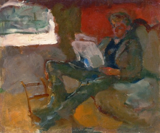 Edvard Munch 1883 Andreas Reading oil on canvas 25.5 x 31 cm Private Collection
