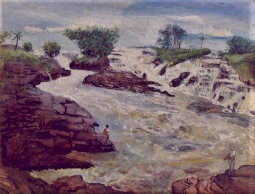 Erich Brill, Salto de Itu, 1935, ost, 50 x 64 cm , Col Gabriela Czapski