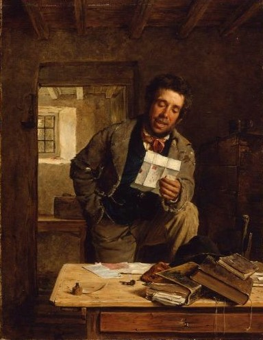 Erskine Nicol (Grã-Bretanha 1825-1904) Good News 1866