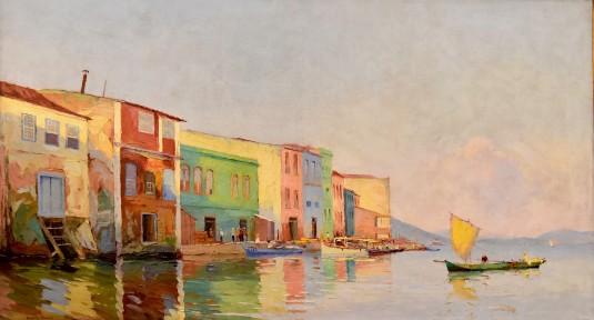 Garcia Bemtp,Porto de Vitória, 1925, Antônio Garcia Bento (1887-1929), Palácio Anchieta, Vitória, sede do governo do Espírito Santo, ost