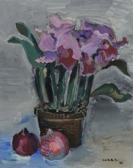 MANABU MABE (1924 - 1997) Orquídea, o.s.t., 50 X 40 cm, assinado