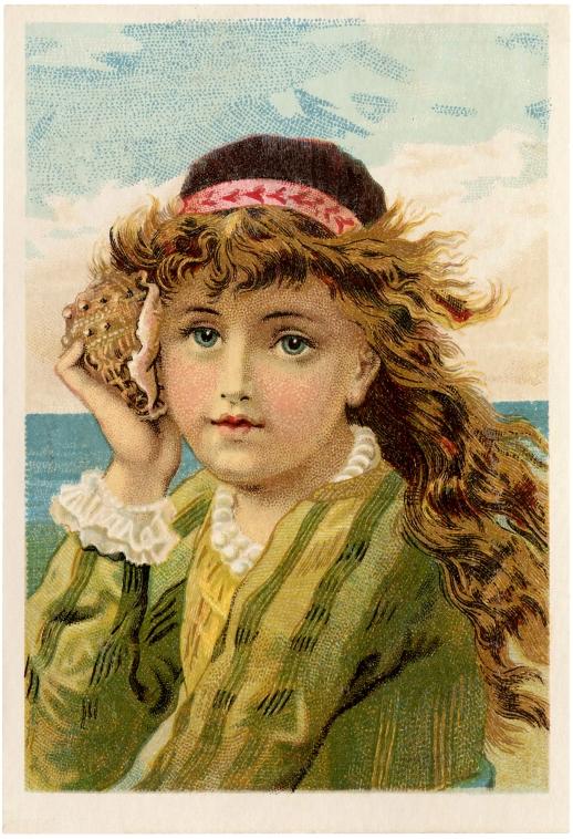 Vintage-Seashell-Girl-Image-GraphicsFairy