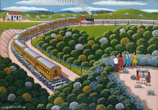Agostinho Batista de Freitas (1927-1997) paisagem com trem