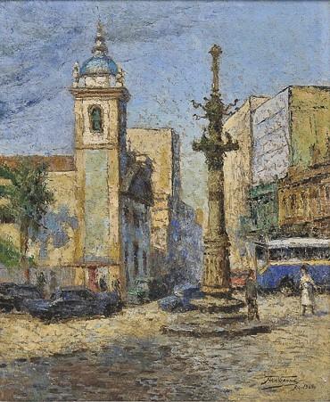 ARMANDO VIANNA(1897-1991),Lapa,ost,Ass., situado e datado Rio 1965, cid55 x 46 cm.