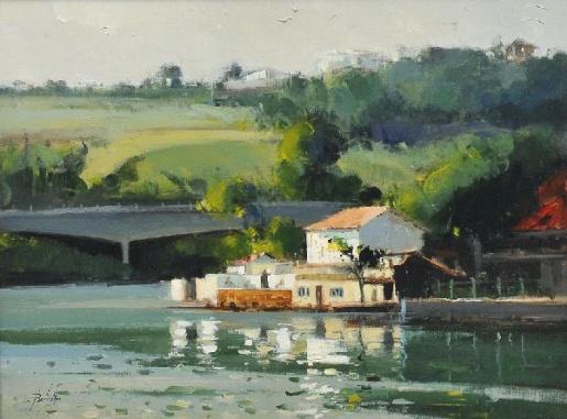BOTELHO, Raimundo Canal de Marapendi Óleo s tela 60 x 80 cm.