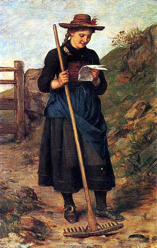 Franz von Defregger - Der Liebesbrief